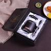 Geschenkdoos zwarte mok met deksel en lepel