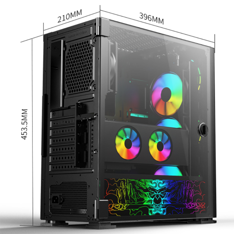 Computer Case & Tower EATX/ATX/Micro ATX/ITX Gaming Computer Case PC With ARGB Fans
