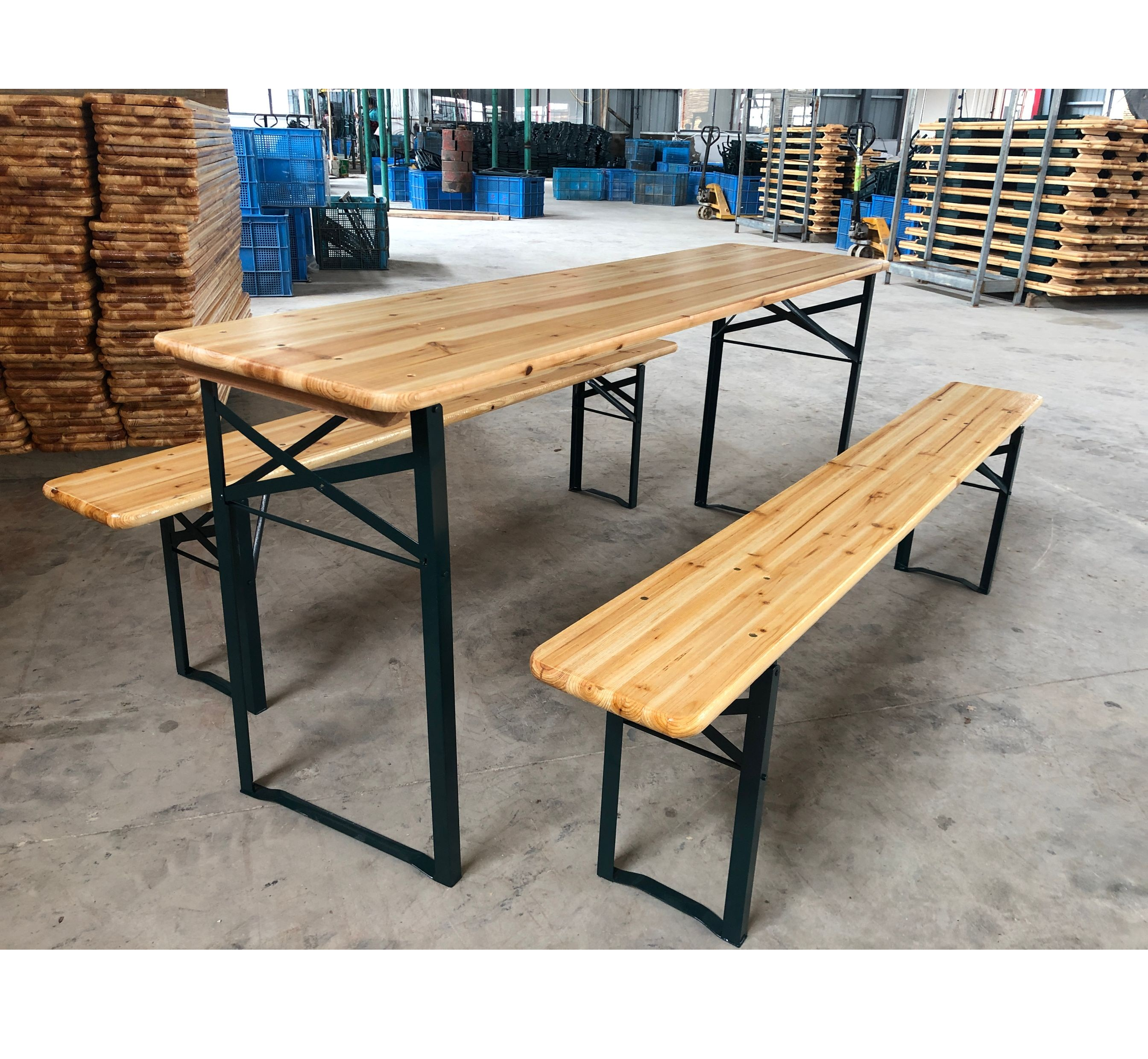 Уличная садовая мебель для кемпинга, деревянный складной пивной стол для пикника и скамейка