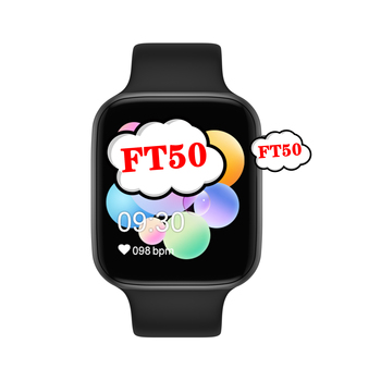 FT50 Reloj Inteligente Android IOS Smartwatch PK IWO 8 10 11 Series 4 5 T500 Smart Watch FT50 For Iphone Apple Huawei Xiao mi