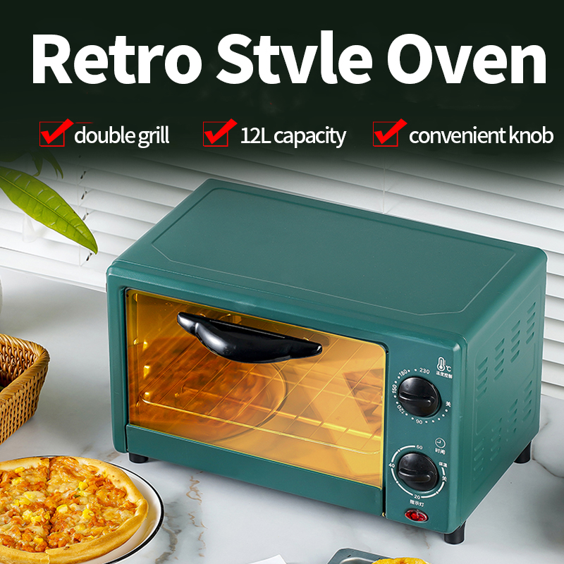 2100W  48L Large Retro Electric Oven   Hot Plate Rotisserie For Family or Commercial