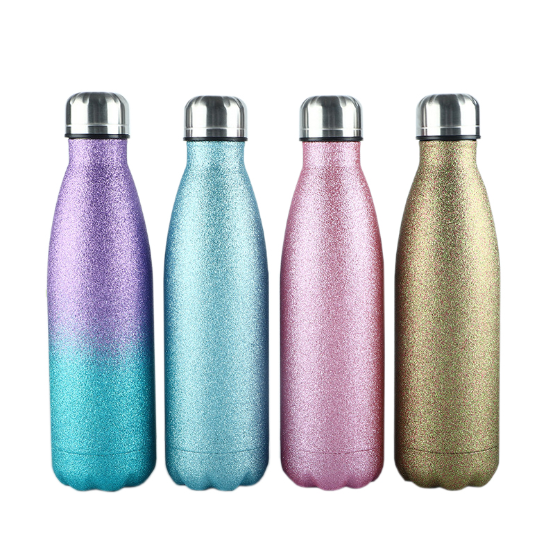 Glitter Double Walled Stainless Steel Water Bottle