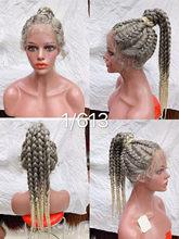 360 кружева полная ручная оплетка парик для чернокожих женщин синтетические кружева фронтальный парик корнушки кружева парики с детскими во...(Китай)