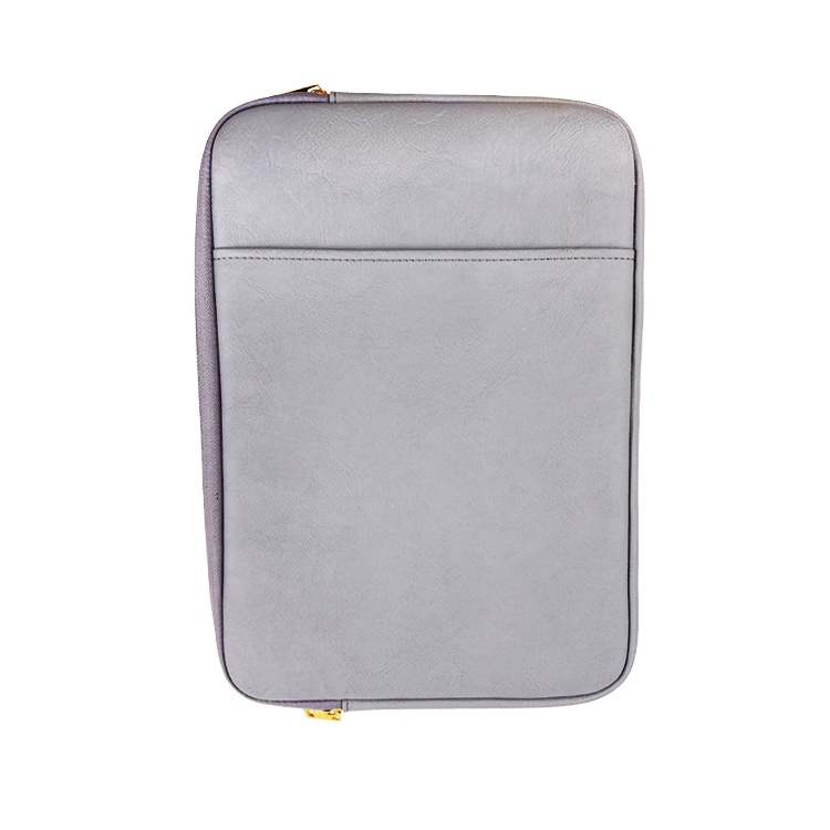 High quality Custom wholesale leather Thick Quilted protective waterproof Ipad bag Pad case protector folio