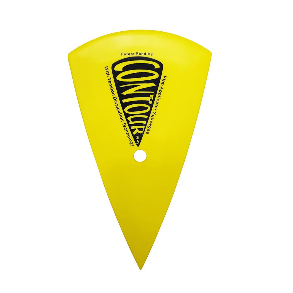 Заводская горячая Распродажа практичный желтый 15,5*8,5 см Пластиковый контурный скребок для обмотки автомобиля окон тонировочные инструменты
