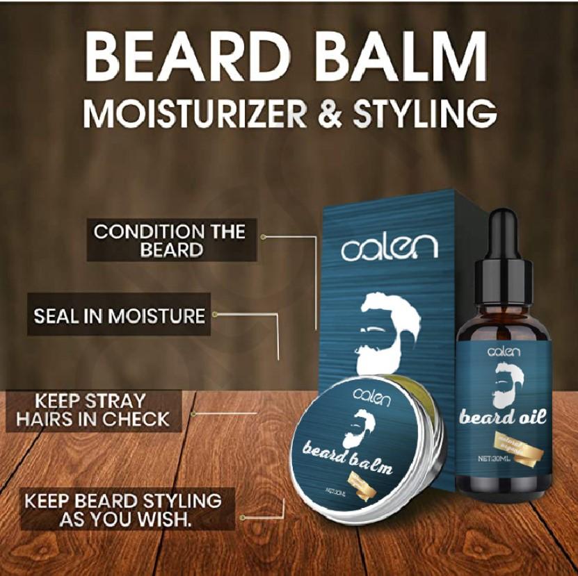 Private Label Custom Beard Oil Balm Derma Roller Comb Men Care Beard Growth Kit