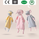 Organic Baby Baby Blanket Organic High Hope Animal Wholesale Lovely Super Soft Touch 100% Organic Cotton Muslin Baby Comforter Blanket