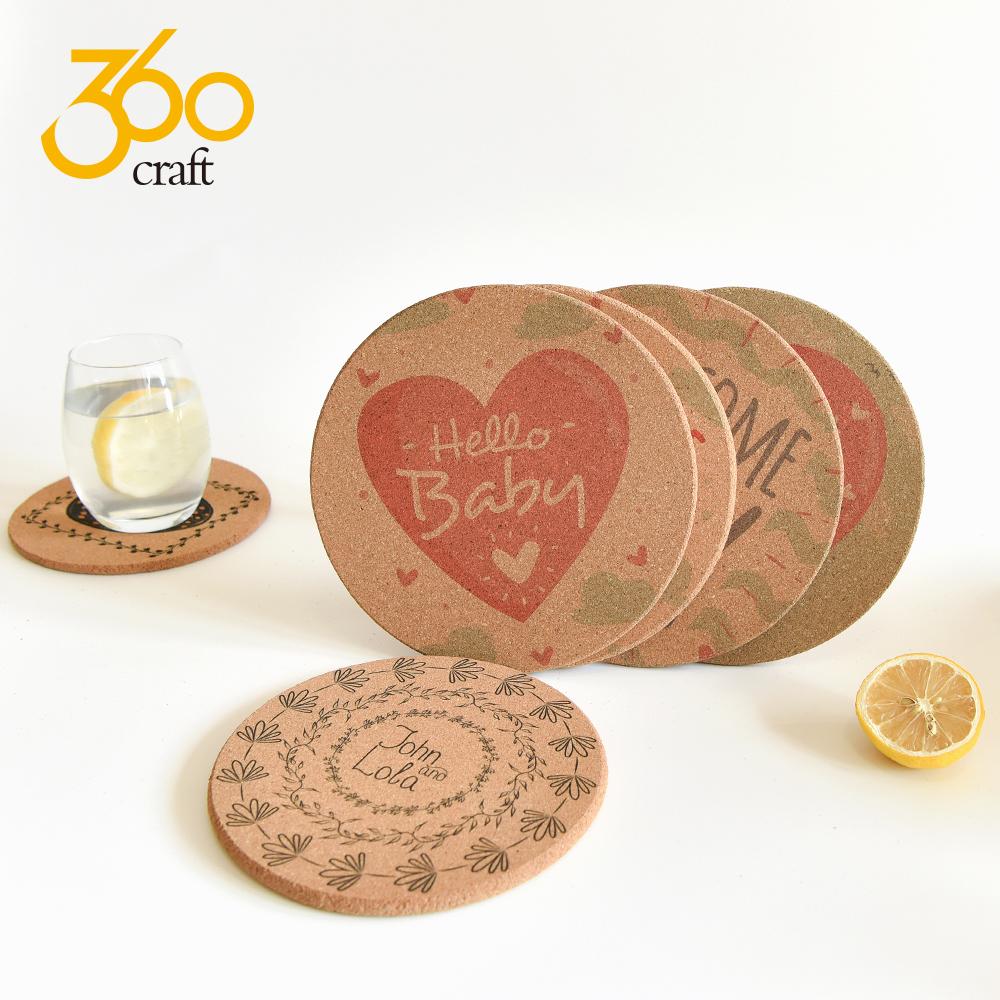 Good Quality Custom Logo Blank Natural Cork Coaster For Print