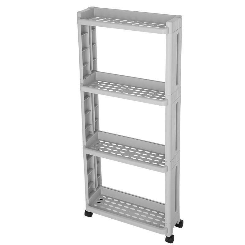 Storage slot mobile narrow cabinet bathroom living room kitchen narrow slot storage storage clip rack