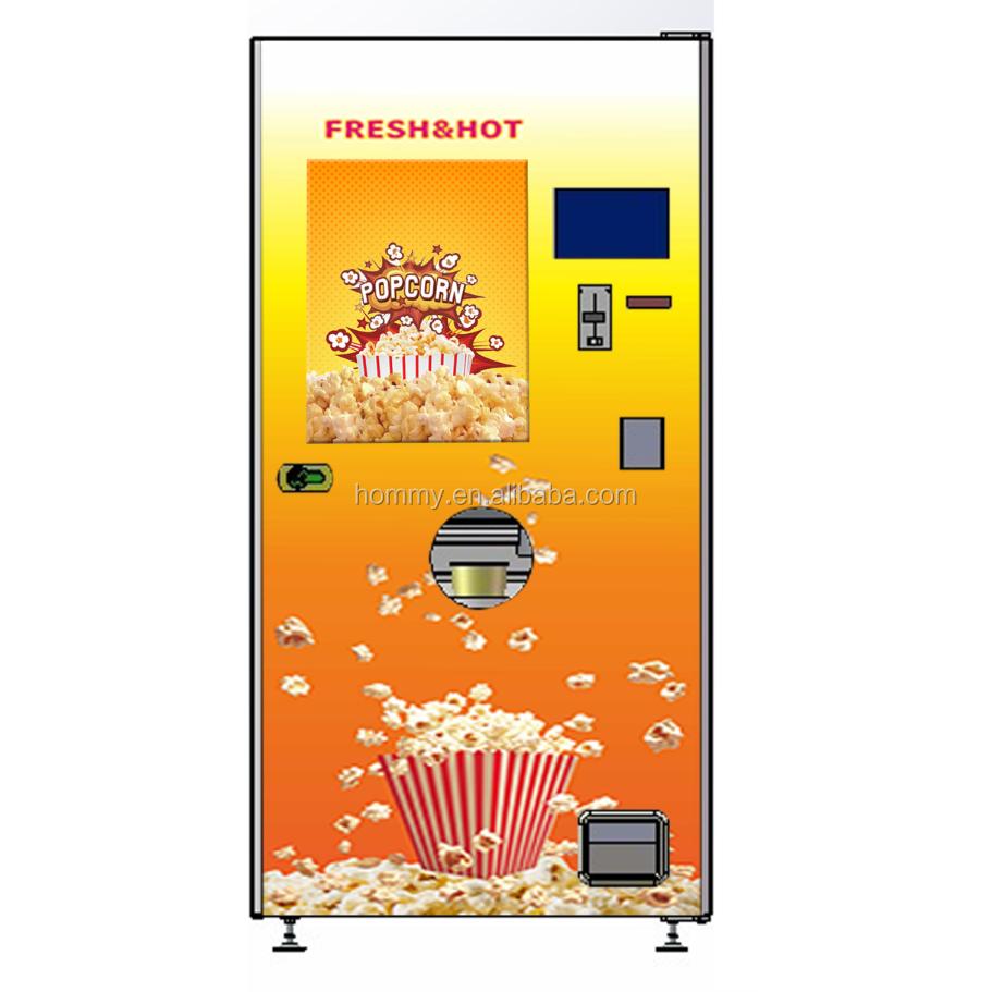 Монета счет Кредитная карта управляемый попкорн торговый автомат автоматический мульти-Ароматизированный попкорн производитель торговый попкорн машина