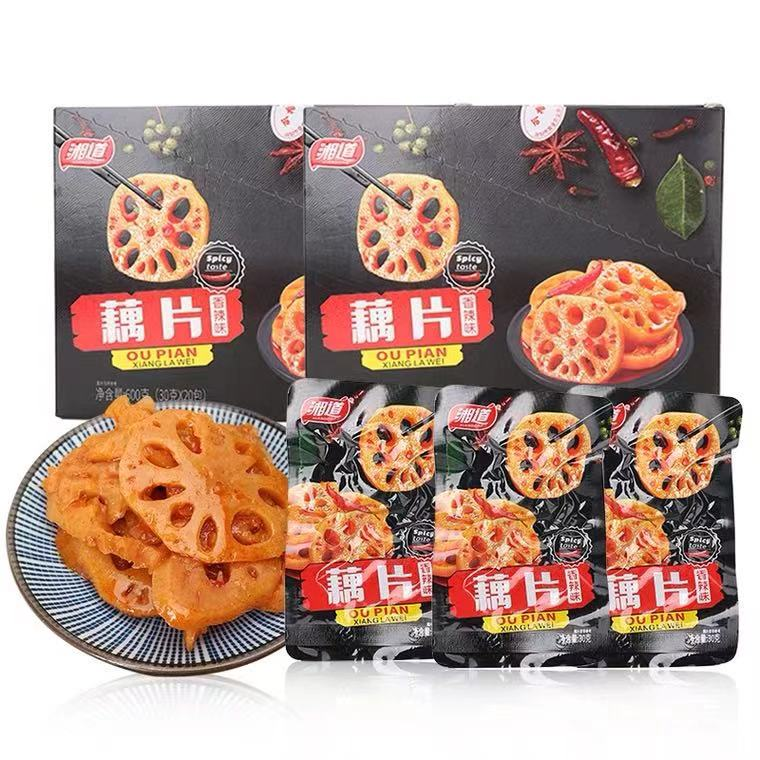 Wholesale healthy Chinese specialty snacks sweet and spicy pickled pickles organic vegetables lotus roots lotus root slices
