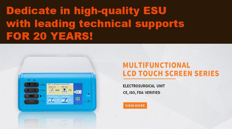 100W High Frequency electrocautery ESU bipolar diathermy machine bipolar coagulator portable