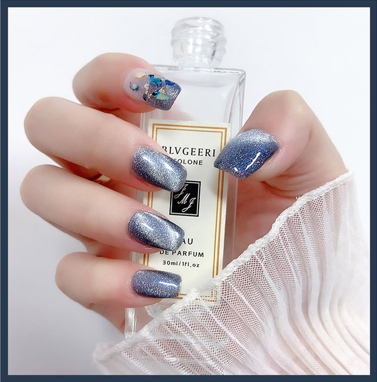 2020 Amazon Top seller Original Premium Silver Galaxy CAT EYE UV NAIL POLISH supplies OEM private label soak off gel polish