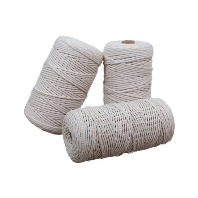 Colorful cotton string rope for Handmade Tapestry Wall Hanging Round Hand-woven Home Decoration Macrame Wall Hanging