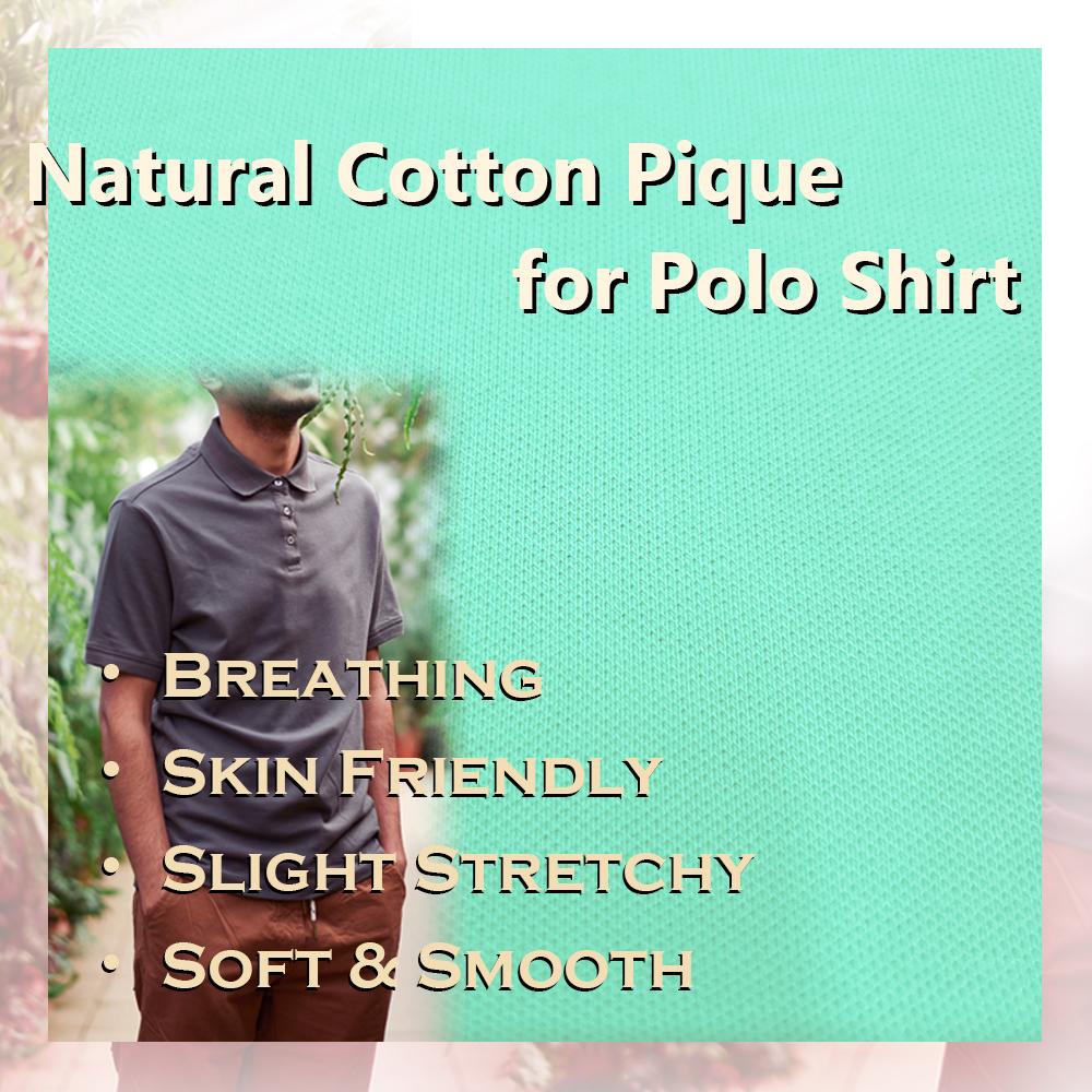 95% хлопок, 5% спандекс, трикотажная ткань из пике для рубашки поло