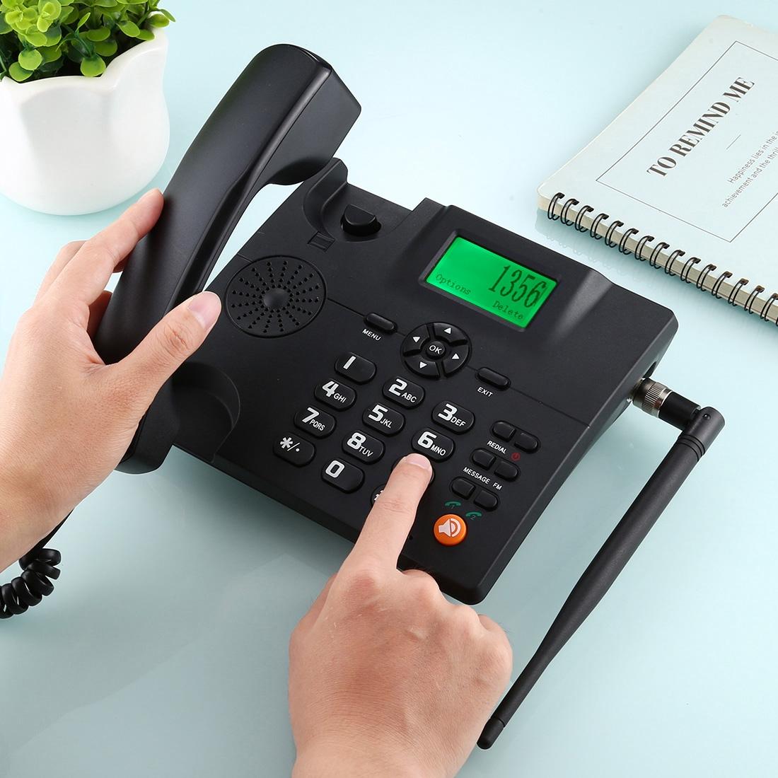 Дешевый мобильный телефон на заказ, проводной стационарный GSM телефон, проводные телефоны с гнездами для Sim-карт