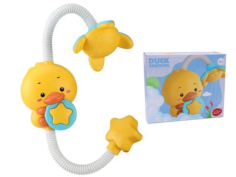 Battery Operated Bathroom Water Play Game Baby Bath Toy Duck Sprinkler For Shower