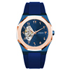 blue silicone strap-rose gold/blue