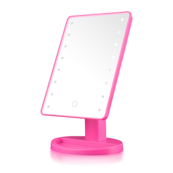 360 Degree Rotation Led Light Magnification Bathroom make up Makeup LED mirror Battery Operated