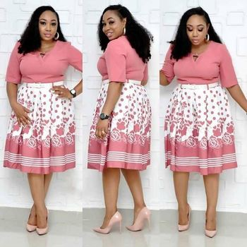 New Fashion Women Africa new look big size 2 piece suits office lady