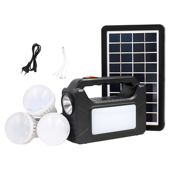 High Quality And Lowest Price 3W Solar Energy Product 3 Bulbs Solar System Power For No Electricity