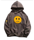 Custom 400 gsm 100 cotton hoodie with patches men's pullover hooded sweatshirt