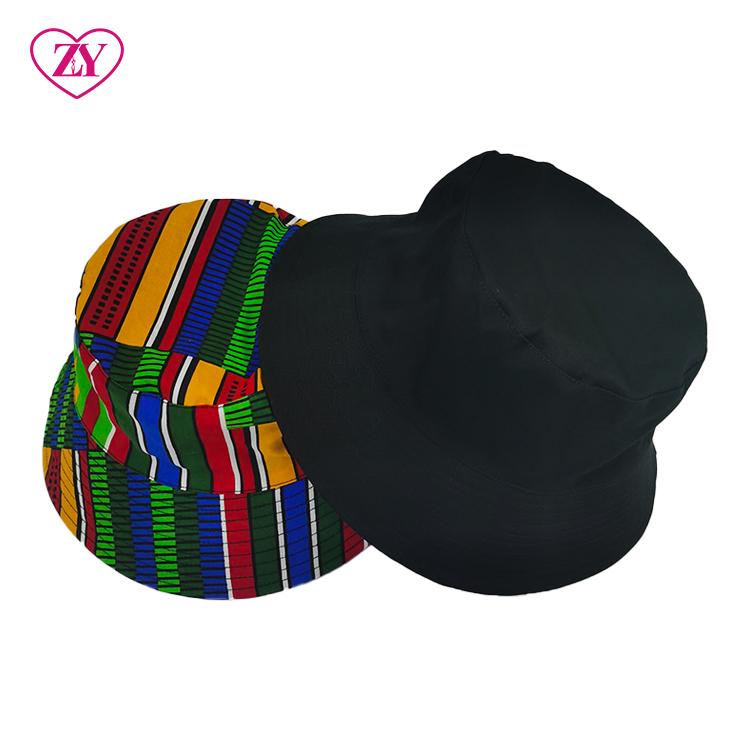 Cheap Ankara Cotton summer beach women African print bucket hat