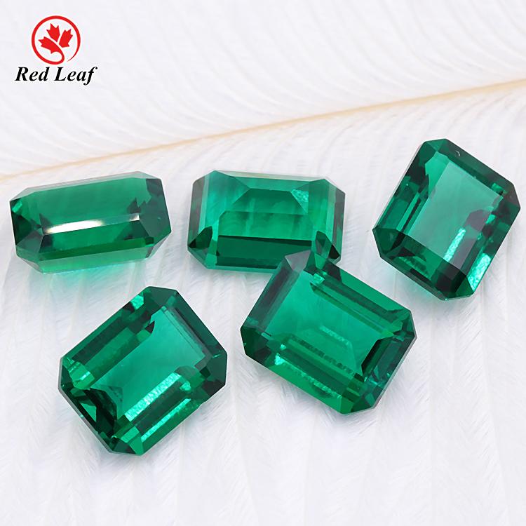 Redleaf Jewelry factory price loose gemstone emerald cut 7*9 mm emerald stone price Lab Grown Emerald