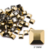 1# 3mm Square Gold