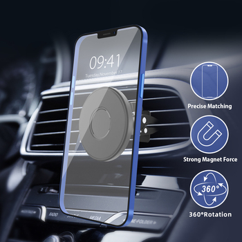 Newest Strong Magnet Force Rotating Magnetic Cellphone Holder Air Vent Mobile Stand Car Holder for Iphone 12