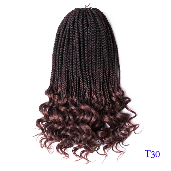 Wholesale 18inch Crochet Hair Pre Loop Box Braids Curly Hair Extension Synthetic Locks Crochet Hair Extension