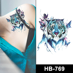 Wholesale Man's Cool Temporary Tattoos Tiger For Body's Decoration