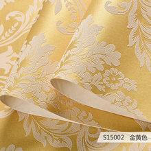 Современная простая бежевая льняная текстура простая однотонная настенная бумага рулон виниловая ПВХ короткая однотонная настенная бумаг...(Китай)