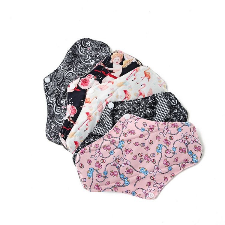 Wholesale Washable Bamboo Cloth Menstrual Napkins Reusable Sanitary Pad