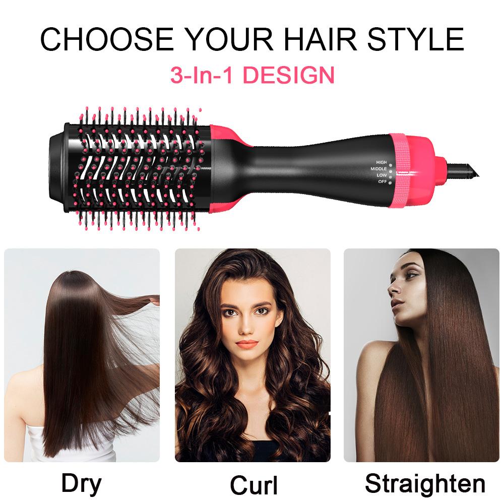 Электрический гребень для волос, фен для волос, быстрый выпрямитель для волос, щетка для горячего воздуха
