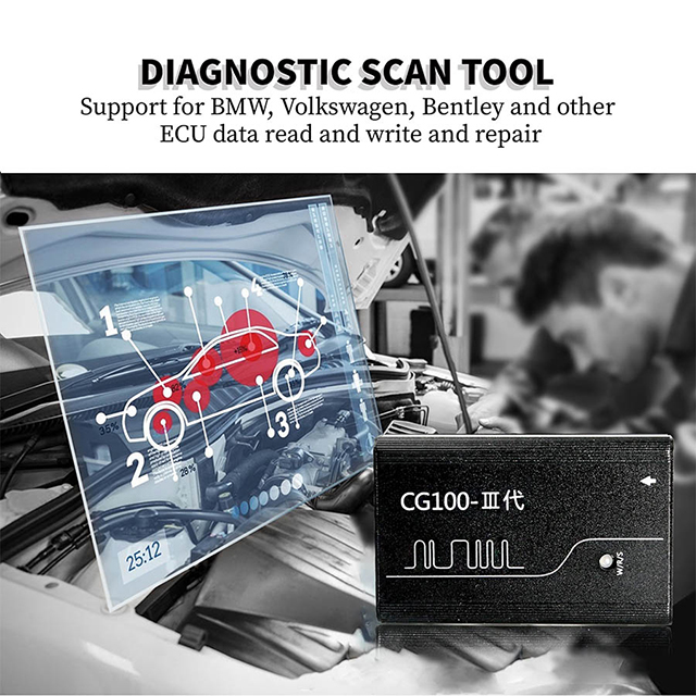 CG100 Scanners Test Tool Check for OBD2 Vehicles support ecu repair &airbeg  date reset in full version package with all adapter