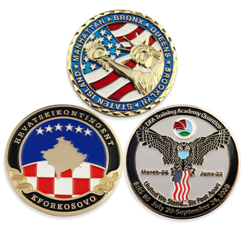 manufacturers personalized custom metal blank 3d soft hard enamel navy military challenge coin