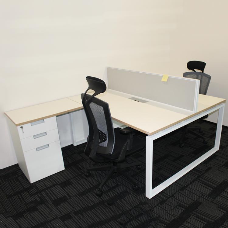 Manufacturer office staff desk open modular office 4 person workstation