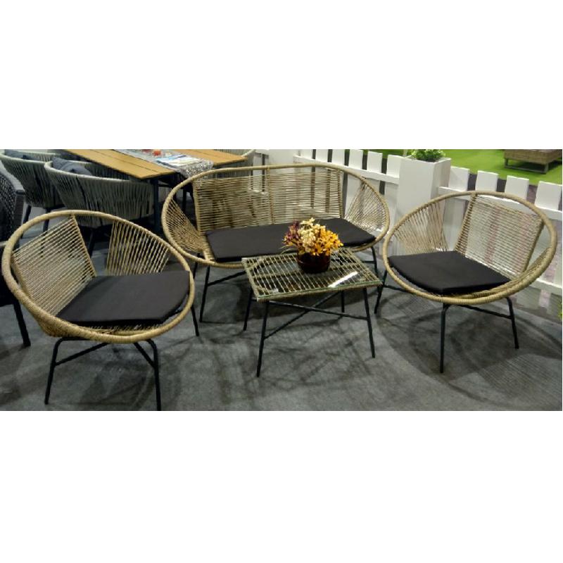 Лидер продаж, железный стул, садовая мебель, набор для бистро, плетеное уличное кресло