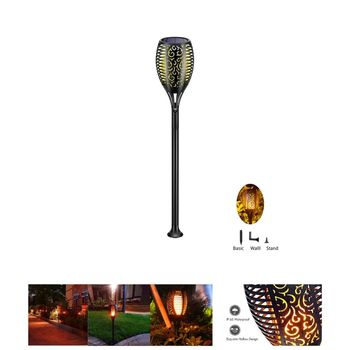 Led Solar Flame Torch Lights Bestsellers New Outdoor Luminous IP65 waterproof Decorative Lamp Oem Custom Led Landscape Light