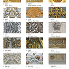 Artistic House 3D Carved Artistic Pu Plastic Lightweight Flat Moulding For House Decoration