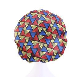 Атласная круглая Кепка с Африканской цифровой печатью, широкополая эластичная Кепка для стирки ночью
