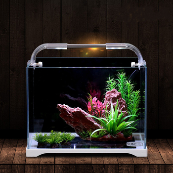 amazon top seller best-selling small medium-sized super white glass ecological grass sitting room fish tank aquarium tanks