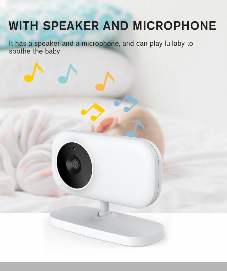 Rechargeable Li-ion Battery Baby Camera Monitor Audio Automatic Motion Tracking Night Vision Detector Baby Monitor