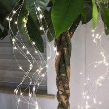 200 светодиодов, гирлянда с 10 нитями, медная гирлянда, гирлянда, огни для рождественской вечеринки, свадьбы, праздника, улицы(Китай)