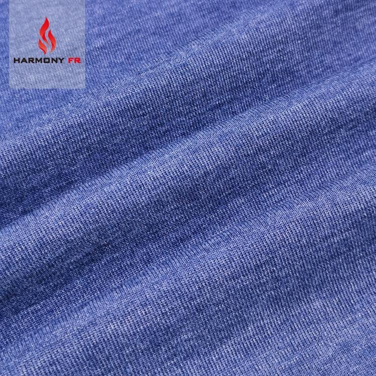Knitted 1*1 Spandex Rib Fire Resistant Anti-static FR Viscose Aramid Fiber Fabric