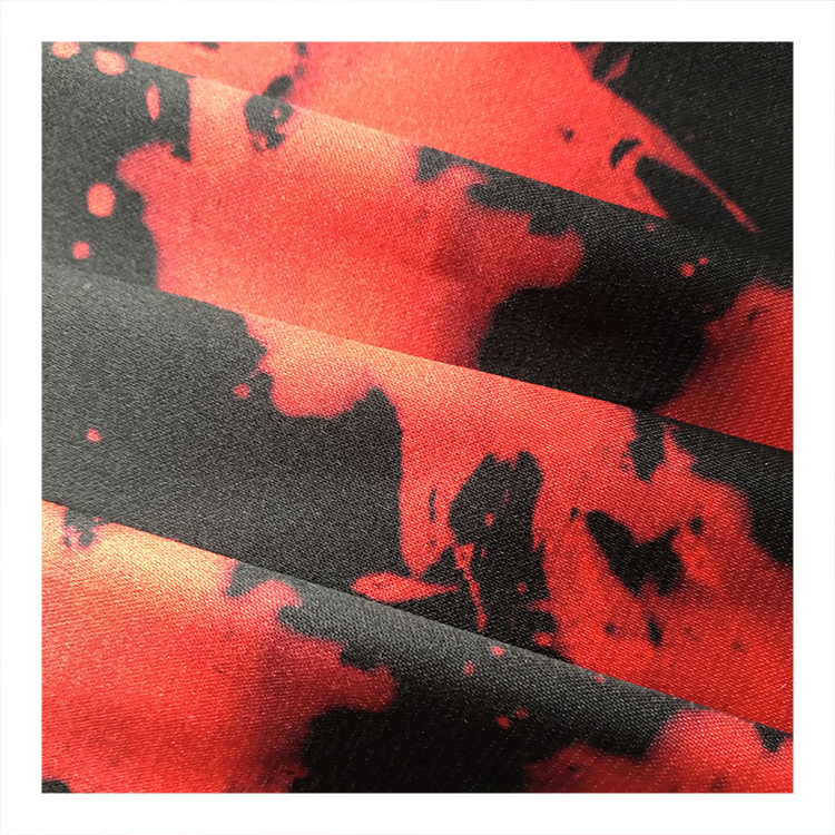 Cheap Price Printed Silk Satin Fabric 100% Polyester For Clothes