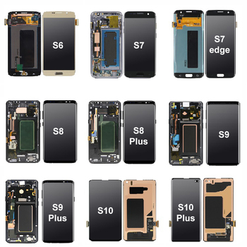 S10 LCD Screen Replacement For Samsung For Galaxy S3 S4 S5 S6 S7 S8 S9 S10 Plus S20 S6 S7 Edge Plus Display Digitizer Assembly