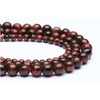 Wholesale Tier A AB+ Grade High Quality Polished Smooth Natural Stone Loose Round Beads Red Tiger Eye for DIY Jewelry Making