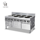 Cooker Commercial Custom 3500W Multi Burner Cooking Stove Induction Combination Cooker With Cabinet